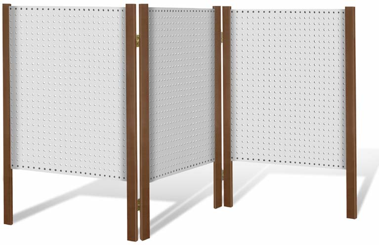 Folding Pegboard Table Display White